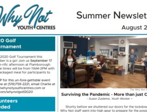 Summer Newsletter – August 2020